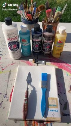 Pin This if you think its cool. Easy Canvas Art, Simple Canvas Paintings, Small Canvas Art, Mini Canvas Art, Cool Paintings, Art Painting Gallery, Canvas Painting Tutorials, Art Drawings Sketches Simple, Acrylic Artwork