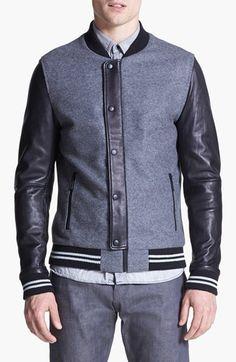7 Diamonds 'Novara' Wool & Leather Varsity Jacket available at #Nordstrom