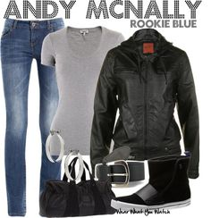 Inspired by Missy Peregrym as Andy McNally on Rookie Blue.