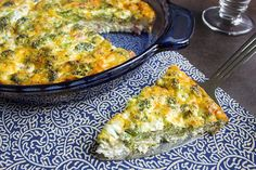 skinny crustless quiche recipe serves 6 view of one serving