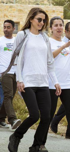 2017 Queen Rania tours Dana Village as part of the Jordan Trail Association's Thru Hike Tafileh, Jordan / 1 May 2017