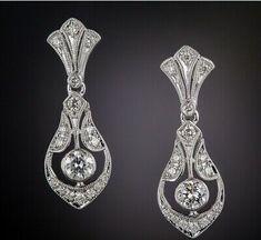 Art Deco Style 1.00 CT Diamond Drop Earring In 14K White Gold Finish | eBay