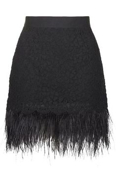 @topshop Limited Edition Feather Lace Pelmet Skirt