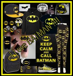 """""""I LOVE BATMAN ....."""" by little-cute-emo-fairy ❤ liked on Polyvore"""