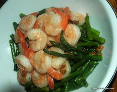 From My Kitchen To Yours: Sauteed Shrimp and Garlic Asparagus