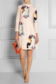 Miu Miu|Printed cady dress|NET-A-PORTER.COM