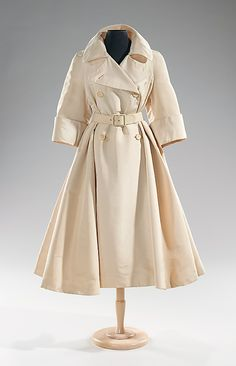 1955 Traina-Norell (American)  I would love to own a trenchcoat like this.