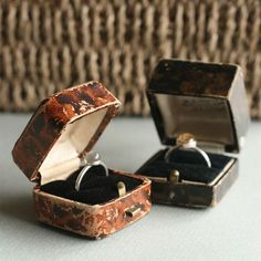 vintage ring boxes