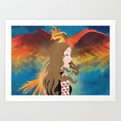 You are free Art Print by Megan Kate Art - $17.00