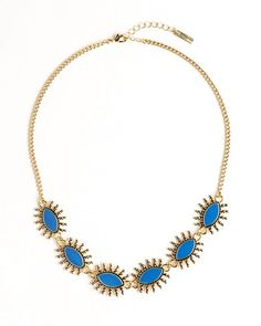 Gleaming Blue Necklace.
