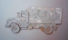 VANDALIZE ME / 100x70cm / Papercutting & graffitis on it #papercutting #art #handmade #street #graffiti #type #paper #neur_one