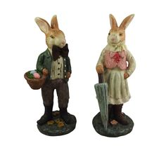 Pin by mollie fred on chocolate is so last year easter gifts gisela graham pair of victorian standing bunny easter decorations from the popular gisela graham easter range negle Gallery