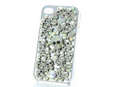 i phone cover, con teschietti e cristalli