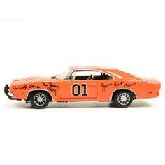 The Dukes of Hazzard Cast Autographed General Lee Die-Cast Car 1:18 Scale