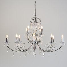 Żyrandol Padova 12 chrom #klasycznelampy #eleganckielampy #romantycznewnetrze
