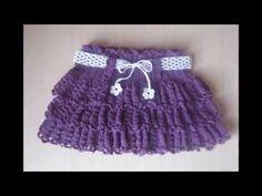 faldas para niñas tejida a ganchillo - YouTube