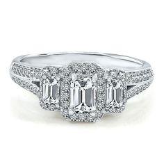 1 1/4 ct. tw. Three-Stone Diamond Ring in 14K Gold