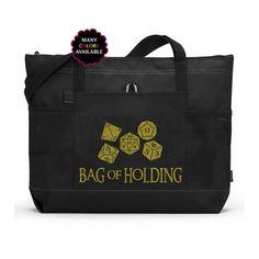 Bag of Holding Custom Zippered Tote Bag - Gym Bag cb5c3e0161a63