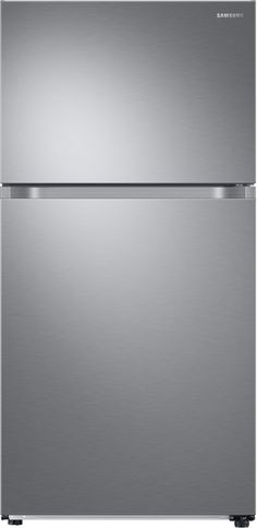 Samsung RT21M6213SR 33 Inch Freestanding Top Mount Freezer Refrigerator with Twin Cooling Plus™, FlexZone™, Slide & Reach Pantry, Reversible Door, 21 cu. ft. Capacity, Energy Star® Rated and Star-K Certified: Stainless Steel