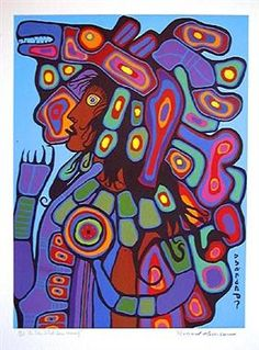 As The Artist Sees Himself - Norval Morrisseau