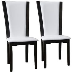 Rinko White Faux Leather Parson Dining Chair Set of 2
