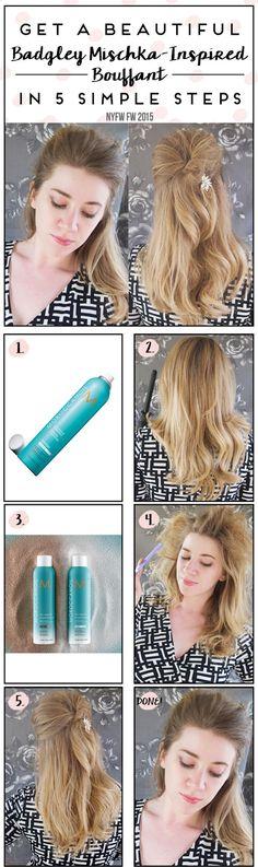 Beautiful Bouffant Hairstyle Tutorial For School Girls - Toronto, Calgary, Edmonton, Montreal, Vancouver, Ottawa, Winnipeg, ON