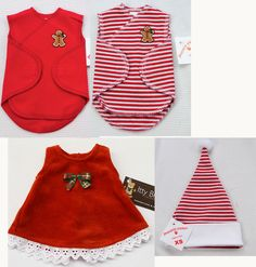 Tiny micro preemie Christmas outfits!