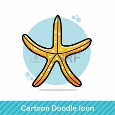 cangrejo caricatura: mar estrellas de mar animales garabato