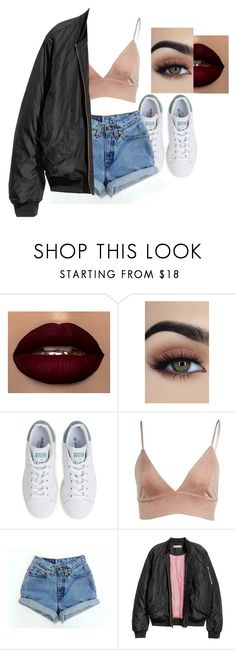 """""""Untitled #1215"""" by miss-eli-pink ❤ liked on Polyvore featuring adidas, Levi's and H&M"""