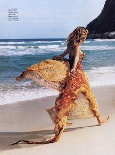 I want to skip along this beach in the warm sunlight...in this dress.