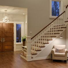 White Painted Staircase Railing Design, Pictures, Remodel, Decor and Ideas - page 28