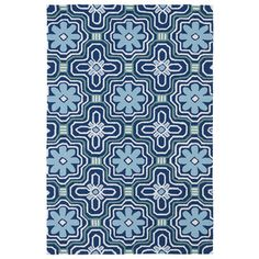 Indoor/ Outdoor Luau Blue Tile Rug (7'6 x 9') - Overstock™ Shopping - Great Deals on 7x9 - 10x14 Rugs