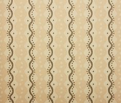 Centipede Stripe Wallpaper A contemporary wavy striped wallpaper with offset dots in gentle pink and light charcoal.