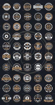 50 Vintage Round Badge Logo by Raftel on Shirt Logo Design, Badge Design, Logo Atelier, Rundes Logo, Kreis Logo, Web Design, Graphic Design, Vintage Logo Design, Round Logo Design