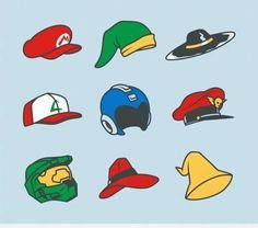 ¿A qué personajes de videojuegos pertenecen estos sombreros? #gamers