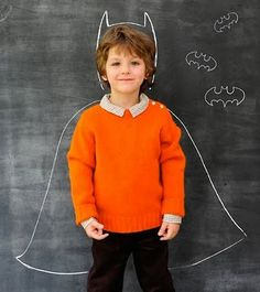 easy photo op...need chalk wall in his room!