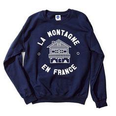 Club Petanque Collection AW15 - Sweat La Montagne - #clubpetanque #sweat #fashion #paris #winter #love