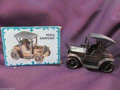 Miniature Desktop Novelty Pencil Sharpener 1917 Car Copper Colored IOB