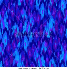 Vector abstract pattern. Ikat ethnic pattern. brush strokes in monochrome blue repeating pattern.