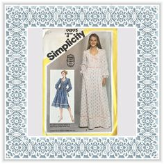Simplicity 9893 (1981) Gunne Sax misses' fitted dress in two lengths (with petite option) - Vintage Uncut Sewing Pattern