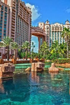 Atlantis Resort in the Bahamas. Stay in Atlantis Royal Towers Bridge Suite for two weeks in Paradise Island with my favorite people. One of my Favorite places:-) Vacation Places, Vacation Trips, Dream Vacations, Vacation Spots, Places To Travel, Places To See, Couples Vacation, Tourist Spots, Travel Destinations