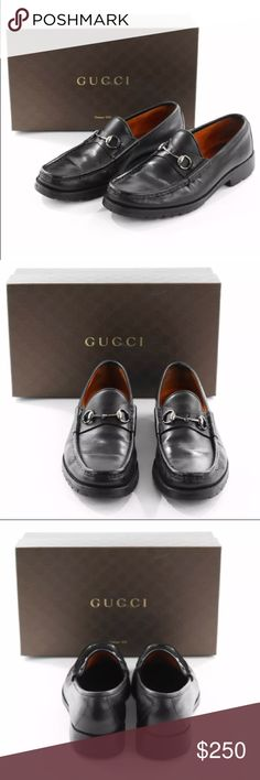 Gucci Men's Horsebit Gore Tex Loafers US 12.5 D Gucci Men's Black Horsebit Gore Tex Loafers  US 12.5 D  Retail: $700.00  These are from my personal collection.  One shoe does have a Very small area With damage. Please see PICS!      Designer: Gucci  Size : US 12.5    Condition: Good Condition  Country of Origin: Italy Shoe Box: Not Included  Dust Bags: Not Included  Shoe Trees: Not Included Retail: $700.00 Gucci Shoes Loafers & Slip-Ons