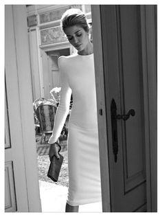 Polished white dress