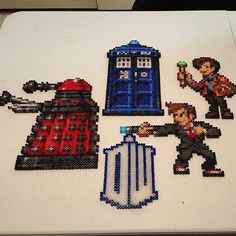 Doctor Who perler beads by sdkdesigns