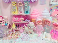 新的小收藏 粉嫩嫩的チ Kawaii pastel toy collection