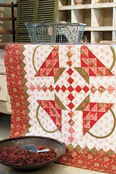 Red Baskets | July/August 2008 | McCall's Quilting