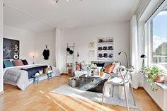 Un studio lumineux et bien aménagé