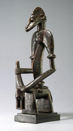 Africa | Equestrian figure from the Senufo people of the Ivory Coast | Wood