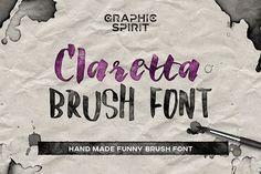 Claretta Brush Ink Font by Graphic Spirit on @creativemarket