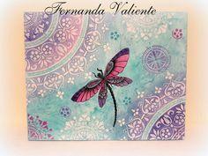 Mandala Art, Mandala Painting, Dot Painting, Mandala Design, Dragonfly Art, Butterfly Art, Mandala Coloring Pages, Stencil Designs, Canvas Artwork
